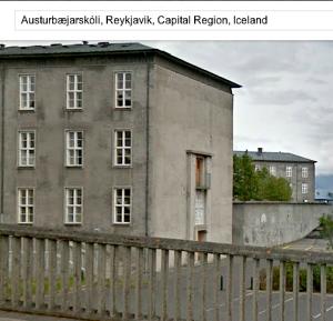 Austurbæjarskóli Google Earth
