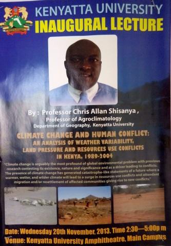 Inaugural Lecture: Prof Shisanya