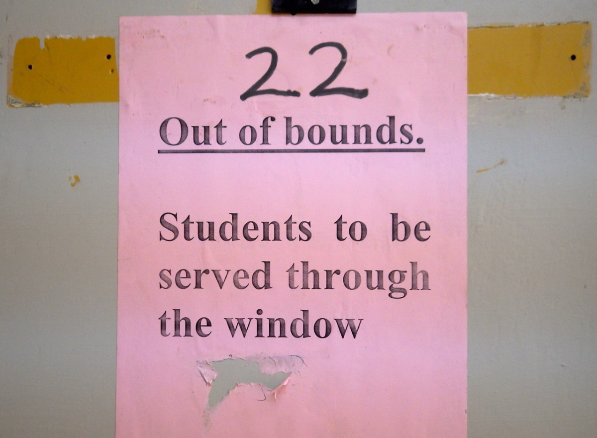 Students served through the window