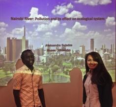 Moses Odhiambo and Aleksandra Suladze