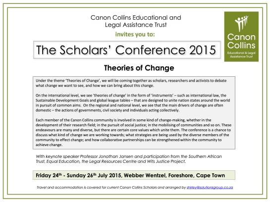 CCELAT 2015 Scholars' Conference Invitation_Theories of Change