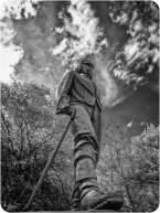 Victoria Falls BW 2 Livingstone Statue