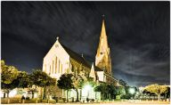 Cathedral of St Michael and St George by moonlight, Church Square, Grahamstown Makhanda