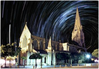 Church Square at Midnight a Fantasy: Grahamstown