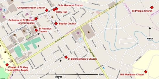 Chapels, Churches and a Cathedral, old Grahamstown heritage sites