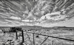 The Eastern Cape Karoo in black and white