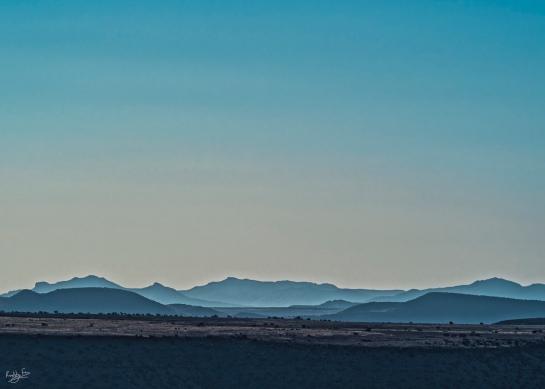 Karoo Skyline from Mt Zebra, Cradock, Karoo
