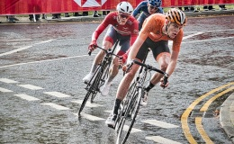 In the rain with the Juniors at the UCI Road World Championships 2019