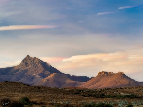 Sunset colours over Compassberg mountain